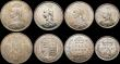 London Coins : A169 : Lot 2120 : Victoria 1887 Jubilee Head coinage (7) Crown 1887 NEF, Double Florin 1887 Arabic 1 GVF/NEF, Halfcrow...