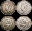London Coins : A169 : Lot 2149 : Cyprus (4) One Piastre 1879 Good Fine with some scratches, 9 Piastres 1940 (2) Fine and VF, Two Shil...