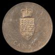 London Coins : A169 : Lot 331 : Canada 1967 100th Anniversary of the Canadian Confederation 31mm diameter in brass, UNC in the origi...
