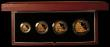 London Coins : A169 : Lot 392 : Britannia Gold Proof Set 2007 the 4-coin set comprising £100 One Ounce, £50 Half Ounce, ...