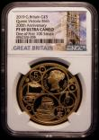 London Coins : A169 : Lot 484 : Five Pound Crown 2019 200th Anniversary of the Birth of Queen Victoria, the reverse an intricate and...