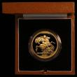 London Coins : A169 : Lot 507 : Five Pounds 1981 Gold BU in the Royal Mint's presentation box with certificate