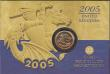 London Coins : A169 : Lot 537 : Half Sovereign 2005 S.SB6 Lustrous UNC on the Royal Mint card of issue