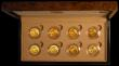 London Coins : A169 : Lot 544 : Mints and Monarchs Gold Sovereign collection an 8-coin set comprising Sovereigns (8) 1883M George an...