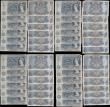 London Coins : A169 : Lot 58 : Five Pounds Fforde QE2 portrait & seated child Britannia issues 1967 (34) all circulated and in ...