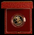 London Coins : A169 : Lot 604 : Sovereign 1983 Proof FDC cased as issued with certificate