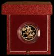 London Coins : A169 : Lot 606 : Sovereign 1986 Proof FDC cased as issued with certificate