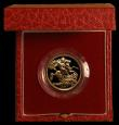London Coins : A169 : Lot 607 : Sovereign 1987 Proof FDC cased as issued with certificate