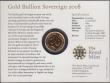 London Coins : A169 : Lot 613 : Sovereign 2008 S.SC4 Lustrous UNC on the Royal Mint card of issue