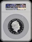 London Coins : A169 : Lot 660 : Ten Pounds 2019 The Tower of London - Legend of the Ravens 5oz. Silver Proof S.M12 in a large NGC ho...