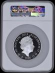 London Coins : A169 : Lot 663 : Ten Pounds 2019 The Tower of London - The Crown Jewels 5oz. Silver Proof S.M13 FDC in a large NGC ho...