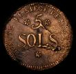 London Coins : A170 : Lot 1014 : German States - Mainz - 5 Sols Siege Coinage 1793 NVF/F for issue the reverse with some uneven tonin...