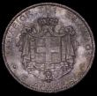 London Coins : A170 : Lot 1037 : Greece 5 Drachmai 1876A KM#46 EF/GEF and attractively toned, the obverse with some contact marks, th...
