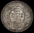 London Coins : A170 : Lot 1060 : India Rupee 1911 'Pig' Bombay Mint KM#523 GEF/AU and lustrous with a hint of gold tone