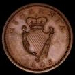 London Coins : A170 : Lot 1068 : Ireland Penny 1805 Bronzed Proof S.6620 nFDC with attractive and even colour, a small spot on the dr...