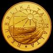 London Coins : A170 : Lot 1111 : Malta 100 Liri Gold 1983 International Year of Disabled People, Obverse: Republic Emblem within circ...