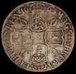 London Coins : A170 : Lot 1354 : Crown 1663 XV edge, Cloak only frosted, No Stops on Reverse ESC 27A, Bull 359, VG/Near Fine, Rare
