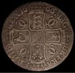 London Coins : A170 : Lot 1356 : Crown 1666 ESC 32, Bull 366 VG with graffiti on the obverse