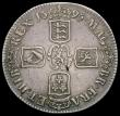 London Coins : A170 : Lot 1365 : Crown 1695 OCTAVO ESC 88, Bull 994 Fine the reverse a little better, a bold example
