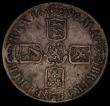 London Coins : A170 : Lot 1367 : Crown 1696 OCTAVO ESC 89, Bull 995 About Fine/Fine, the obverse with a light golden tone, the revers...