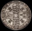 London Coins : A170 : Lot 1372 : Crown 1708 Plumes ESC 108, Bull 1347 Near Fine/Good Fine, with some edge bruises, the obverse with l...
