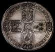 London Coins : A170 : Lot 1378 : Crown 1746 LIMA ESC 125 UNC or very near so and deeply tone, the edge with a small impression betwee...