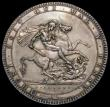 London Coins : A170 : Lot 1384 : Crown 1820LX ESC 219, Bull 2016 VF the obverse with a slightly dull surface