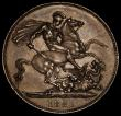 London Coins : A170 : Lot 1386 : Crown 1821 SECUNDO ESC 246, Bull 2310 EF a small scratch above the date, an attractive grey tone and...