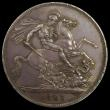 London Coins : A170 : Lot 1387 : Crown 1821 SECUNDO ESC 246, Bull 2310, UNC with even grey toning, in an LCGS holder and graded LCGS ...