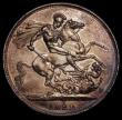 London Coins : A170 : Lot 1388 : Crown 1822 TERTIO ESC 252, Bull 2320 GEF with some hairlines, an even gold tone over original mint l...