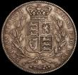 London Coins : A170 : Lot 1389 : Crown 1844 Cinquefoil stops on edge ESC 281, Bull 2563 VF or slightly better and nicely toned