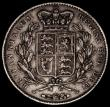 London Coins : A170 : Lot 1391 : Crown 1845 Cinquefoil stops on edge ESC 282, Bull 2564 Fine, the reverse better