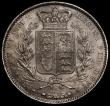 London Coins : A170 : Lot 1392 : Crown 1845 Cinquefoil stops on edge ESC 282, Bull 2564 VF with some contact marks and some uneven to...