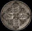 London Coins : A170 : Lot 1395 : Crown 1847 Gothic UNDECIMO ESC 288, Bull 2571 NEF grey toned, with some contact marks