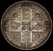 London Coins : A170 : Lot 1396 : Crown 1847 Gothic UNDECIMO ESC 288, Bull 2571 NVF, evenly toned