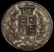London Coins : A170 : Lot 1400 : Crown 1847 Young Head ESC 286, Bull 2567 VF toned, the obverse with some contact marks, the reverse ...