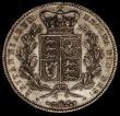 London Coins : A170 : Lot 1401 : Crown 1847 Young Head ESC 288, Bull 2567 GVF/NEF with some contact marks, the reverse with some unde...
