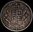 London Coins : A170 : Lot 1402 : Crown 1847 Young Head ESC 288, Bull 2567 Near Fine/Fine with grey tone