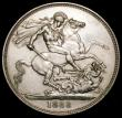 London Coins : A170 : Lot 1405 : Crown 1888 Narrow Date ESC 298, Bull 2587 EF with a scratch by the G of D:G: and signs of smoothing ...