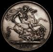 London Coins : A170 : Lot 1407 : Crown 1889 ESC 299, Bull 2589, Davies 483 dies 1A, UNC/AU and lustrous, with some small edge nicks, ...