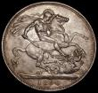 London Coins : A170 : Lot 1408 : Crown 1890 ESC 300, Bull 2590 About EF/EF the obverse with some light contact marks