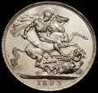 London Coins : A170 : Lot 1412 : Crown 1893 LVI ESC 303, Bull 2593, Davies 501 dies 1A with the B of B.P virtually indistinct, About ...