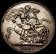 London Coins : A170 : Lot 1415 : Crown 1895 LIX ESC 309, Bull 2599, Davies 512 T of VICTORIA points to a space, dies 2A, GVF with som...