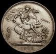 London Coins : A170 : Lot 1418 : Crown 1900 LXIV ESC 319, Bull 2609, NEF with some contact marks and hairlines