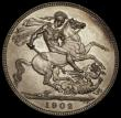 London Coins : A170 : Lot 1420 : Crown 1902 Matt Proof ESC 362, Bull 3562 UNC overall with a light and attractive golden tone, the re...