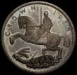 London Coins : A170 : Lot 1436 : Crown 1935 Raised Edge Proof ESC 378, Bull 3655 UNC to FDC the obverse toned in the legends, the rev...