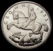 London Coins : A170 : Lot 1437 : Crown 1935 Raised edge Proof ESC 378, Bull 3655, Lustrous UNC with some toning, the obverse with two...