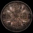 London Coins : A170 : Lot 1450 : Double Florin 1887 Roman 1 ESC 394, Bull 2695 NEF/EF nicely toned with some small edge nicks