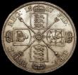 London Coins : A170 : Lot 1451 : Double Florin 1887 Roman 1, ESC 394, Bull 2695 UNC or near so with some light contact marks and smal...
