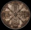 London Coins : A170 : Lot 1453 : Double Florin 1888 Second I in VICTORIA an Inverted 1 ESC 397A, Bull 2700 About EF the reverse with ...